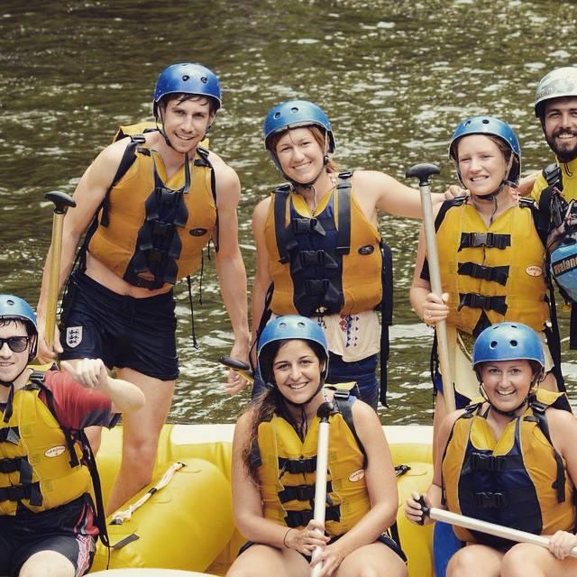 white water raft group